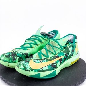 KEVIN DURANT ZOOM KD 6 VI AWAY 2 OKC THUNDER BLACK SNEAKERS SHOES KEY CHAIN RING